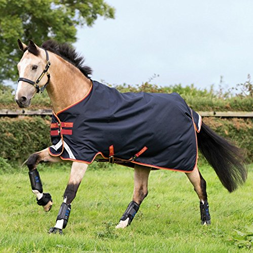 Horseware Amigo Bravo 12 Turnout medium 250g - Dark Navy/Red, Groesse:160