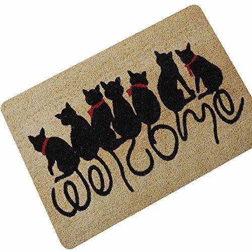 Matte Home Decor (Eureya Katze Welcome Fußmatten Welcome Boden Eingangstür Matten Home Decor für Innenbereich/Außenbereich 40x 60cm-perfet Geschenk)