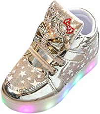 Voberry Voberry Unisex-Baby Toddler Fashion Sneakers Star Luminous Child Casual Colorful Light Shoes