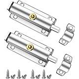 2 Pack Deurbouten, Bolatus 84mm Deurslot Security Gate Bolt Spring Automatische Duurzame Schuifbout Rvs Klink Schuifdeurslote