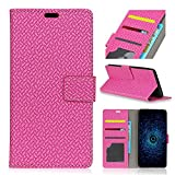 For Alcatel Idol 5S Case, [Extra Card Slot] None [Wallet Case] PU Leather TPU Casing Backcover [Drop Protection] Cover for Alcatel Idol 5S, Hot Pink