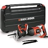 BLACK+DECKER RS1050EK-QS Sega a Gattuccio in Valigetta + 3 Lame, 1050 W, 230 V, Black,Orange, 1050W