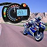 CARGOOL Digitale Motorrad Tachometer modifizierte Motorrad Kilometerzähler Universal Motorrad Speed