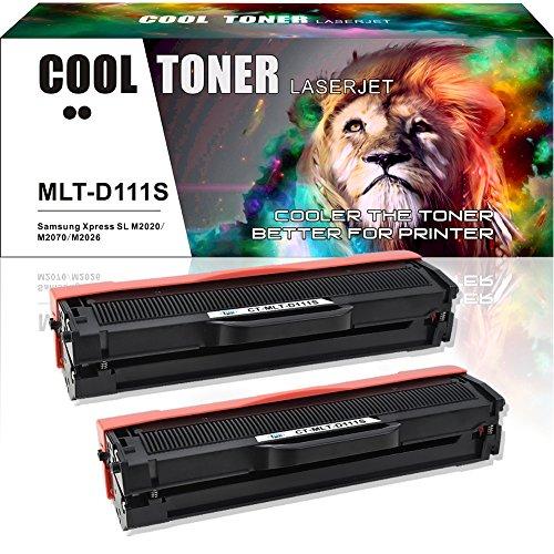 Cool toner kit 2 compatibile toner per samsung mlt-d111s 111s mltd111s mlt d111s cartucce stampante samsung xpress m2070fw m2070 m2070w m2070f m2026 m2026w m2022w m2020 samsung m2022 m2022w sl-m2026w