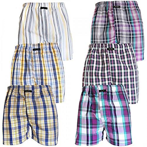 6er Pack CITYLIFE Webboxer Boxershorts Shorts Herren SPARPACK, Grösse:L - 6 - 52;Farbe:Set 1