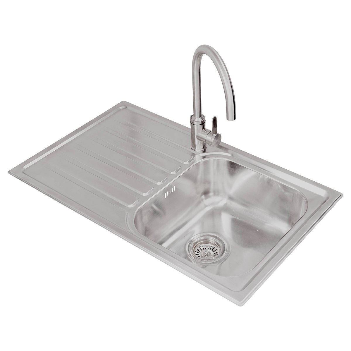 Valle Victoria 635x505mm 1.5 Bowl Spacesaver Kitchen Sink ...