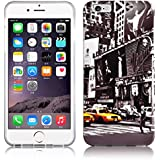 Cadorabo - Hard Cover Protección para Apple iPhone 6 / 6S (4.7 pulgadas) - Case Cover Funda Protectora Carcasa Dura Hard Case en Diseño 'NUEVA YORK TAXI'