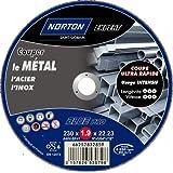 Norton Tronçonnage fin plate expert Métal/Inox 230 x 1,9 x 22,2 mm
