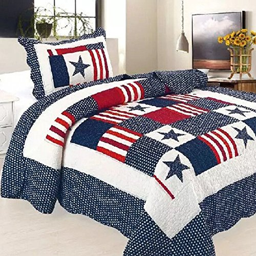 Alicemall Couvre-lit matelassé 1 personne Courtepointe boutis Courtepointe couverture lit 150*200cm Cotton Quilted Patchwork Bedspread Living Room Air Conditioning Blanket for Kids(3)