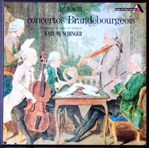 Ace of Diamonds - Stereo SDD 186/7 - J.S. Bach - Concertos Brandebourgeois - Karl Munchinger - (2 Disques Vinyle 33t LP in Box) (Ace Glas)