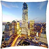 freedom tower and new world trade center in nyc hdr - Throw Pillow Cover Case (18