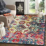 Status Contract Polyester Yarn 3D Printed Vintage Persian Carpet with Anti Slip Backing for Bedroom/Living Area/Home (4X 5 ft, Multicolour)