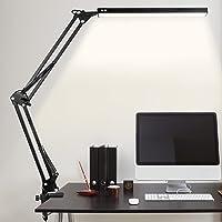Lampe de Bureau LED, 10W Lampe de Table Architecte Pliable avec Clamp, Bras Pivotant en Métal,Atténuation et Température…