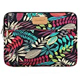 CoolBell 11,6 Zoll Laptop Hülse Tasche Sleeve Case Schutzhülle mit buntem Blätter Muster Ultrabook Sleeve Bag für Ultrabook/Tablet/Macbook Pro/Macbook air/Surfase RT/Surface Pro2/3/Damen/Herren