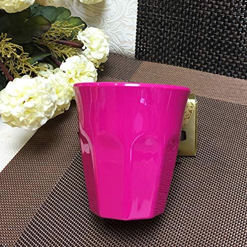 HKDBZ Wiederverwendbare Plastikbecher Becher Tasse Für Party Kinder Tasse Teetasse Wein Saft Saft Getränk Tasse - Becher Kaffee Melamin Red