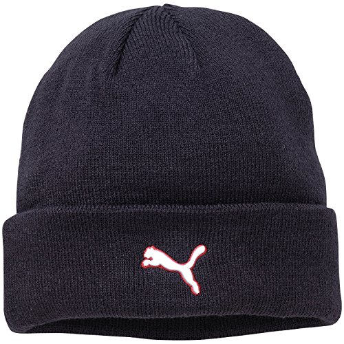 PUMA Herren Mütze Cat Fold Beanie II, New Navy, One size, 843404 08