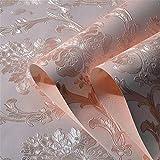 QXLML Tapeten europäischen Luxus 4D dreidimensionale Pferd Leder fein geprägt Vliestapete Schlafzimmer Wohnzimmer TV Hintergrundbild 10 * 0,53 (M) ( Color : Light pink )