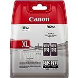 Canon PG-512 2PK - Cartucho de tinta (2 unidades), negro