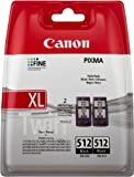 Canon PG 512 Original Tintenpatrone, Doppelpack, 2x 15 ml schwarz