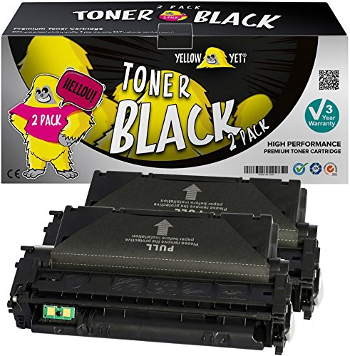 Yellow Yeti Q5949X Q7553X (7.000 Seiten) 2 Premium Toner kompatibel für HP Laserjet 3390 3392 1320 1320n 1320tn 1320nw M2727nf M2727nfs MFP P2014 P2015 P2015d P2015dn P2015x [3 Jahre Garantie]