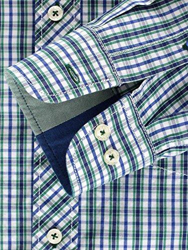 CASAMODA Herren Businesshemd 431799400 Casual Fit Grün