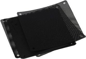LEDMOMO 10 Pieces 120 mm Dust Filter Computer Fan Filter Cooler PVC Black Dustproof Case Cover Computer Mesh