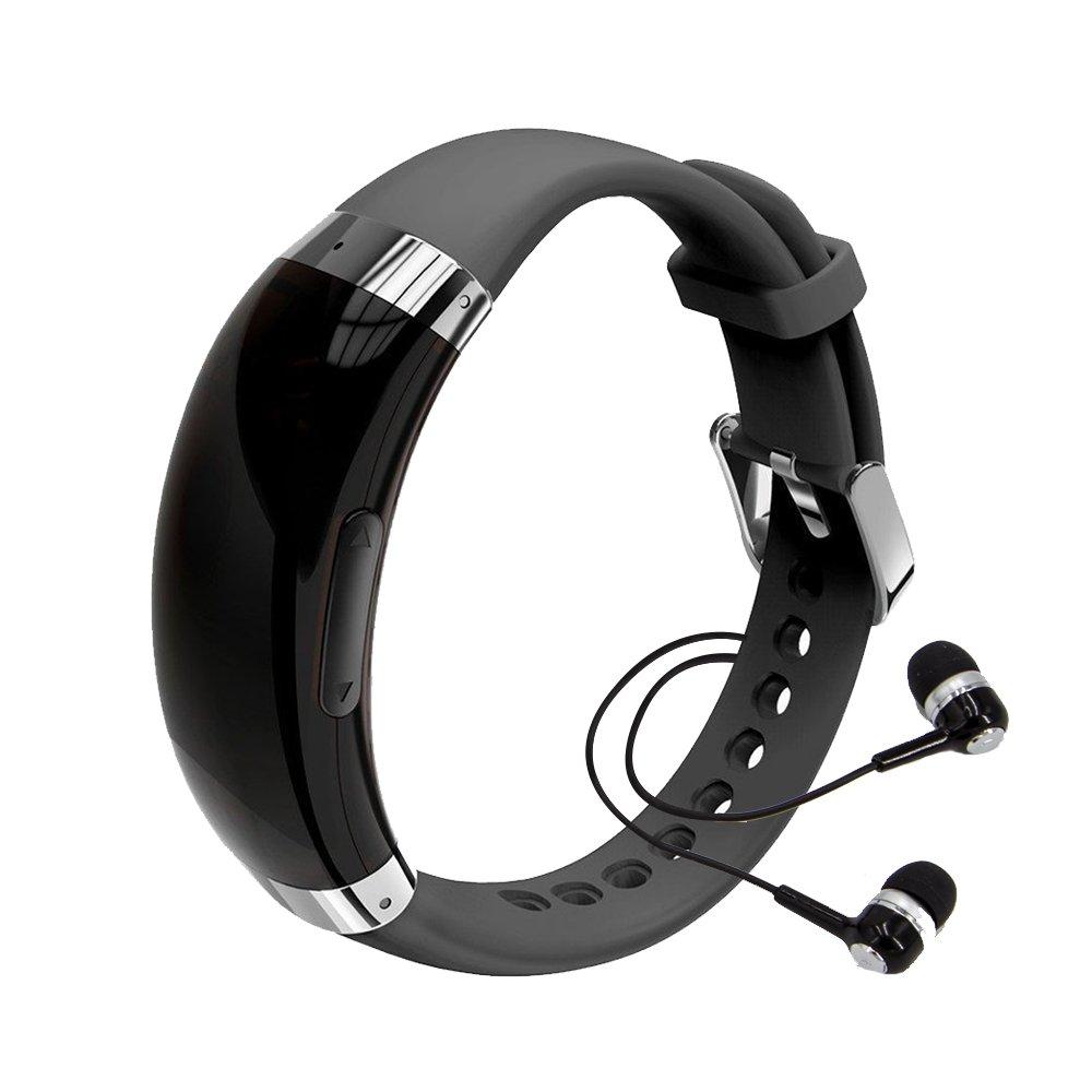 XIAOKOA Registratore vocale 8 GB Wristband registratore vocale digitale e lettore musicale MP3, att