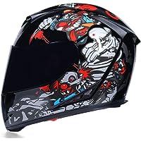 Casco moto integrale Casco moto in fibra di carbonio per tutte le stagioni Usa Moto Casco Double Len Capacete
