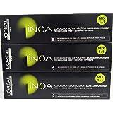 3 X L'Oreal Professionnel Inoa Senza Ammoniaca N°7,43 Biondo Rame Dorato 60 ml