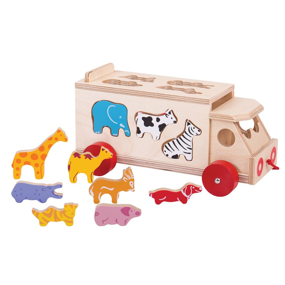 Forme Animali Legno Giochi Toys Bigjigs Camion Con UVSzqMLpjG
