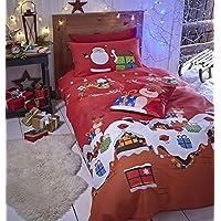 Catherine Lansfield Santa's Christmas Presents Easy Care Single Duvet Set Multi
