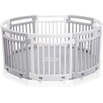 56c20c1d446 Baby Vivo Child Plastic Playpen Round Portable Room Divider Kids Barrier  for Indoor and Outdoor with