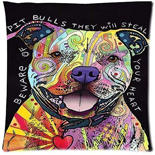 Kissenbezug,Decorative Throw Pillow Cover, 45X45 cm Pillowcase Cover, Fashion Home and Office Pillow Cover Design with Dean Russo Beware of Pit Bulls
