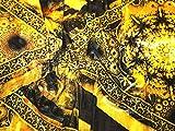Italienischen Stretch Samt Kleid Stoff gelb