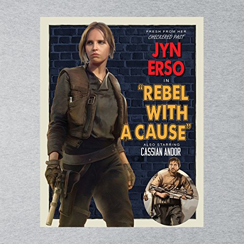 Star Wars Rogue One Rebel With A Cause Poster Women's Vest Heather Grey