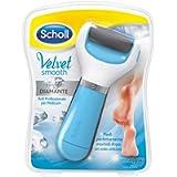 Scholl Velvet Smooth Roll Pedicure Elettrico Professionale per Pelle Secca e Talloni Screpolati, Azzurro, con Cristalli…