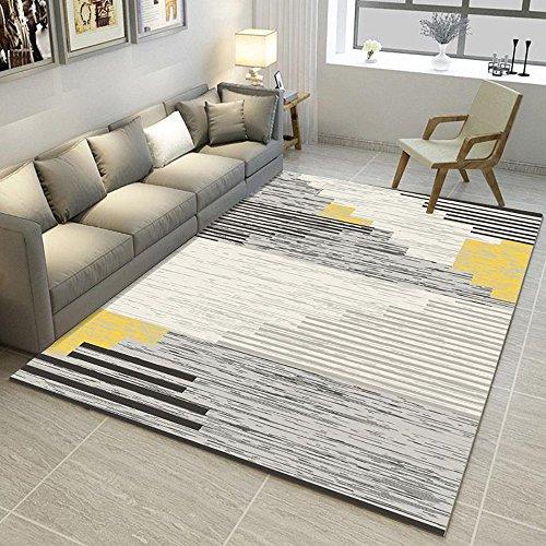 HBWS Alfombra Simple Moderno Dormitorio Alfombra Tienda Completa Mesa de café sofá Escritorio Rectangular de Espesor