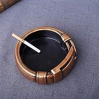 TYAW-SHOP Cenicero cinturón de Resina artesanía Personalidad Creativa decoración de la Oficina en casa Regalo del Ornamento, Oro