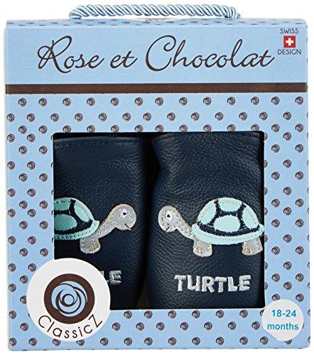 Rose & Chocolat Tiny Turtle, Chaussures Marche Bébé Garçon Bleu Marine
