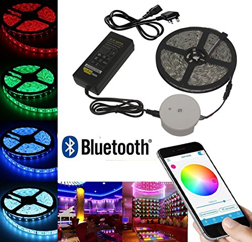 aneo-led-strip-bluetooth-smartphone-app-controlled-5050-rgb-5m-164ft-ip65-waterproof-led-rope-light-