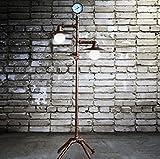 JHLDD Rohr Stehlampe Loft Industrie Stil Stehleuchte Vintage Schmiedeeisen Stehleuchte Dekorationen Metall Handwerk L56 * W37 * H143cm