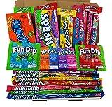 Amerikanische Wonka-Süßigkeiten Geschenkkorb | Süßigkeiten aus den USA | Auswahl beinhaltet Wonka Nerds, Gobstoppers | 21 Produkte in einer tollen retro Geschenkebox