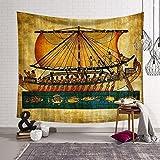 Alten Ägypten Ägyptische Boot Hippie Mandala Wandbehang Bohemian Ethnische Tie Dye Tagesdecke komplizierte indischen Tagesdecke Überwurf Decke Home Raum Wand Decor NEW AGE Wohnheim Tapisserie hyc23