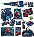 Familando Marvel Spiderman Schulranzen-Set 21tlg. Scooli Campus Up mit Sporttasche Schultüte 85cm und Regenschutz