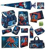 Familando Spiderman Schulranzen Set 21tlg. Scooli Campus Up mit Sporttasche Schultüte 85cm SPON8252-GR