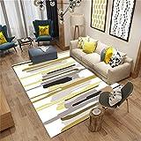 Wohnzimmer Dekorative Teppich Bodenmatte Geometrische Muster Europäischen Einfachen Stil 3D Druck Rechteckigen Teppich Geometrische Muster Schlafzimmer rutschfeste Teppich Kinderteppich Teppich Teppiche