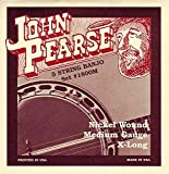 John Pearse 1800M Jeu de 5 cordes pour Banjo Medium Nickel Naturel