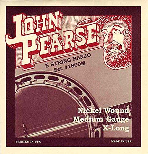 John Pearse 1800M JP 5 Saiten Banjo, M, nickel