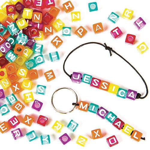 Buchstaben-Perlen - zum Basteln für Kinder - Schmuck für Armbänder und Ketten - 450 Stück