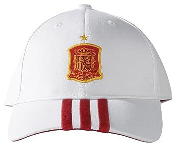 newest 3add6 85b78 ADIDAS Spain football 3 stripe cap (white)  Amazon.co.uk  Sports   Outdoors